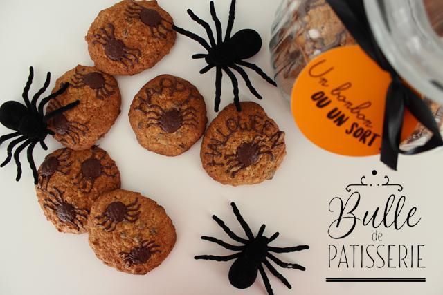 Recette d'Halloween : Cookies Chocolat-Banane et leurs araignées