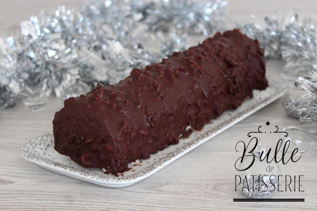 Dessert de fin d'année : bûche de Noël Vanille-Tonka-Chocolat Noir