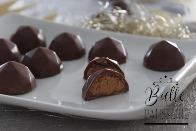 Chocolats de Noël maison au beurre de cacahuètes