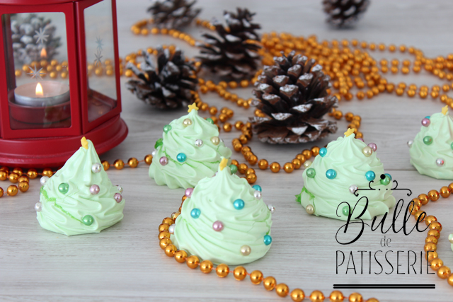 Gourmandise de Noël Maison : sapins meringués