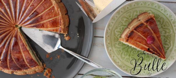 Epiphanie : galette des Rois thé matcha - framboises