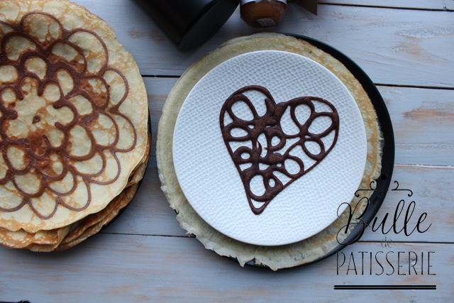 Coeur en pancake art
