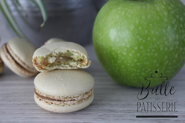 Macarons acidulés à la pomme Granny Smith