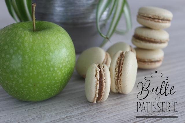 Mignardises acidulées : macarons Granny Smith