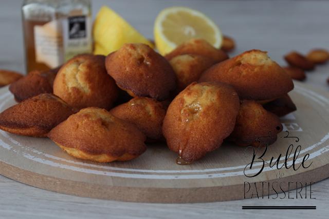 Pâtisserie de Chef : madeleines parfumées citron et miel