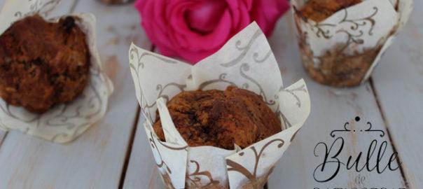 Recette de Muffins maison : pépites de chocolat et coeur nutella