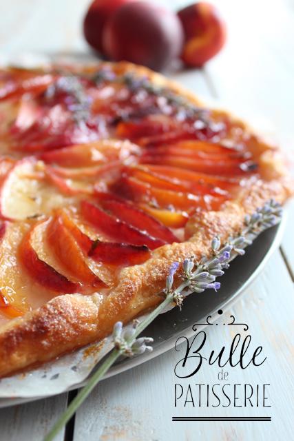 Recette d'été : tarte fine nectarines-lavande