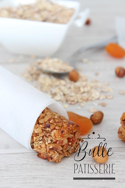 A l'heure du goûter : barres de céréales maison Abricots-Noisettes