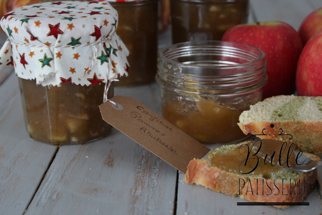 Recette facile de confiture maison : Pomme-Rhubarbe