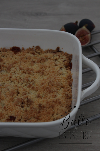 Dessert rapide : crumble figues-miel
