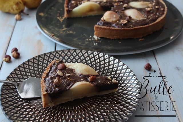 Recette gourmande : tarte maison Poires-Chocolat