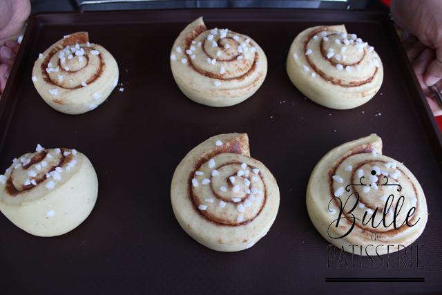 Les Cinnamon Rolls juste avant la cuisson