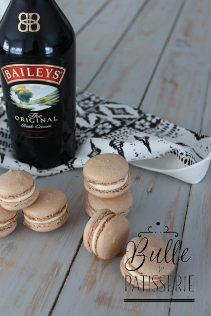 Mignardises gourmandes : macarons au Baileys