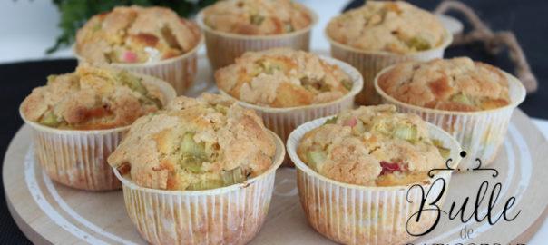 Recette rapide : muffins à la rhubarbe et crumble