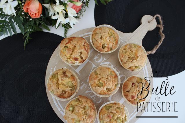 Pâtisserie facile : muffins à la rhubarbe