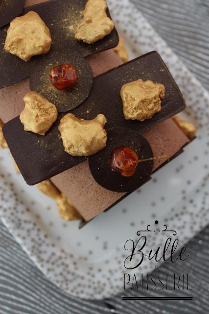 Entremets de Noël : bûche Chocolat-Praliné