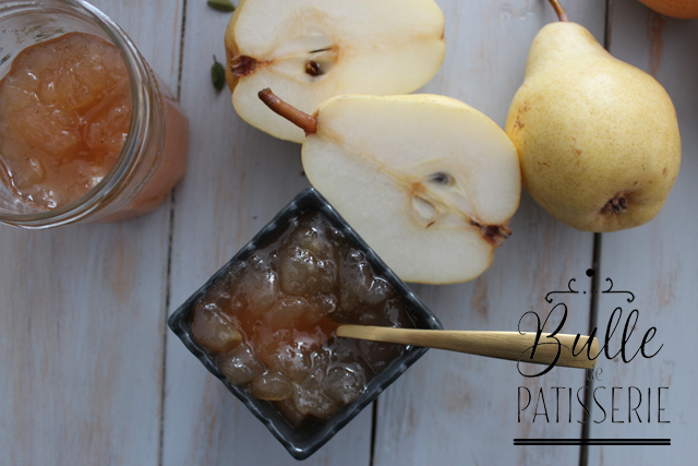 Recette facile : confiture maison poires & cardamome