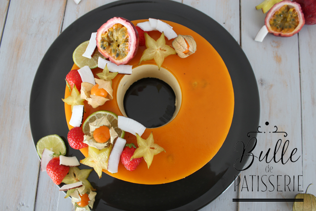 Entremets maison Fruits de la passion - Mangue