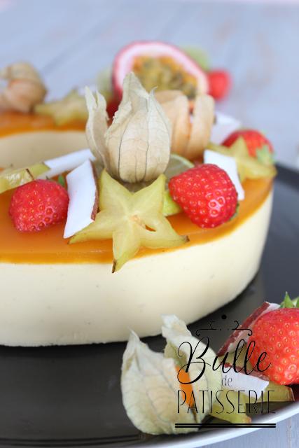Entremets maison Fruits de la passion - Mangue