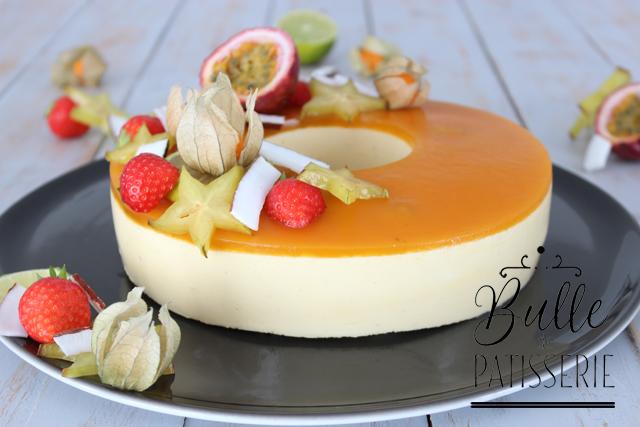 Pâtisserie maison : entremets passion-mangue