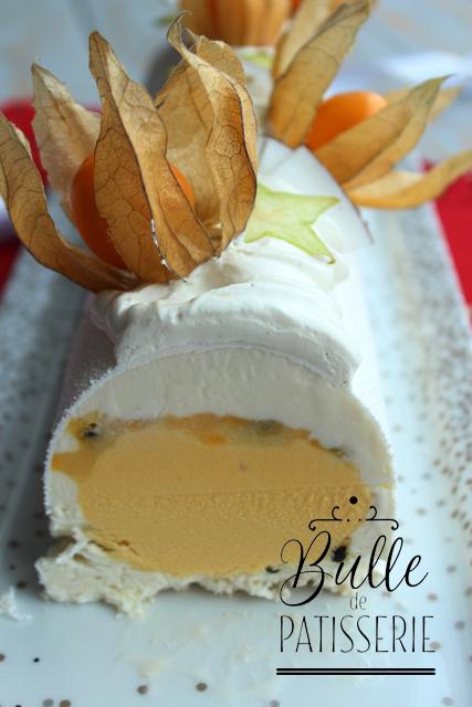 Bûche de Noël glacée Mangue - Coco - Passion