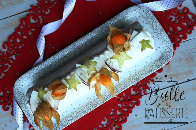 Dessert glacé de Noël : la bûche exotique