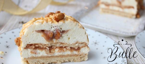 Recette de Noël : bûche Cacahuètes, Caramel & Vanille