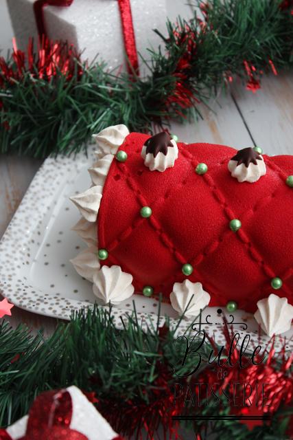 Dessert de fête : bûche de Noël Poires-Spéculos