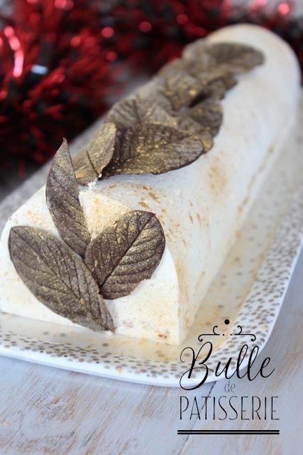 Dessert de Noël : Bûche Vanille-Caramel-Speculoos