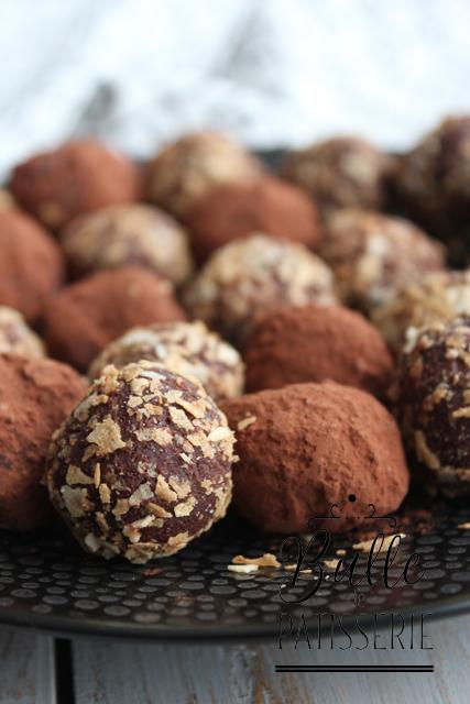 Chocolats de Noël faciles : truffes au praliné