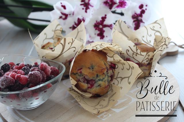Recette facile : muffins aux fruits rouges