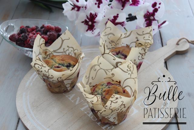 Muffins faciles et rapides aux fruits rouges