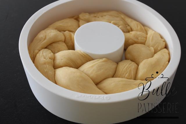 Recette de la brioche au miel : la pâte a bien gonflé