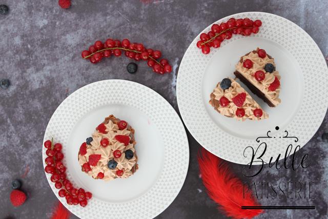 Recette St Valentin au chocolat et aux fruits rouges