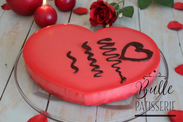 Recette d'entremets pour la St Valentin : Coeur Chocolat au lait-Framboises