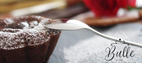 Recette de la Saint Valentin : fondant au chocolat coeur spéculoos