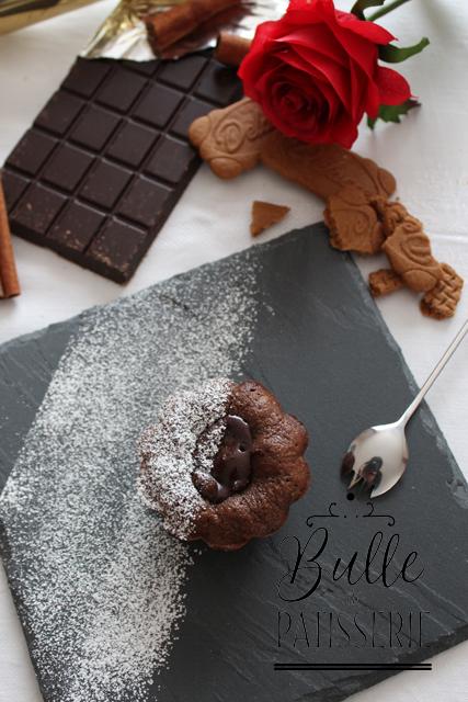Dessert express pour la St Valentin : le fondant au chocolat et son cœur Spéculos