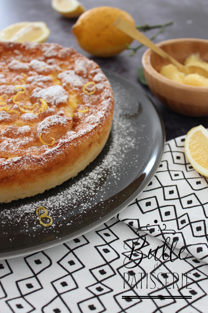 Dessert facile: gâteau magique au lemon curd