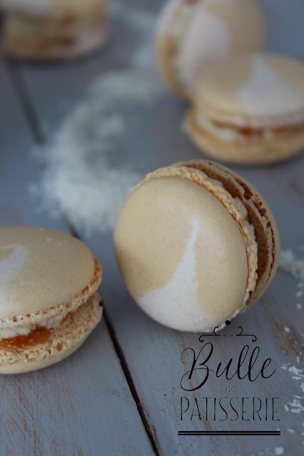 Recette de macarons exotiques : Passion-Coco