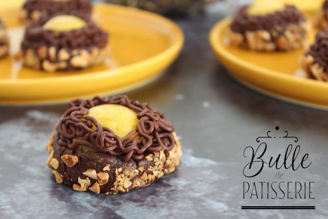 Biscuits Nids de Pâques Mangue-Chocolat