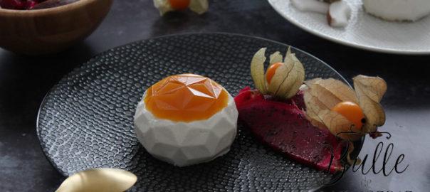 Dessert gourmand aux saveurs exotiques : entremets Passion-Coco-Ananas