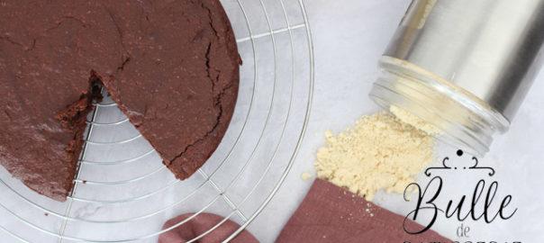 Recette de gâteau au chocolat sans gluten (poudre d'amandes) et sans beurre (compote de pommes)