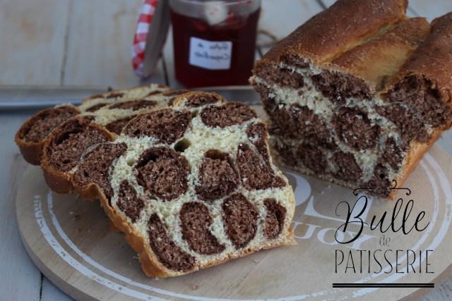 Recette de la brioche léopard maison Vanille-Chocolat