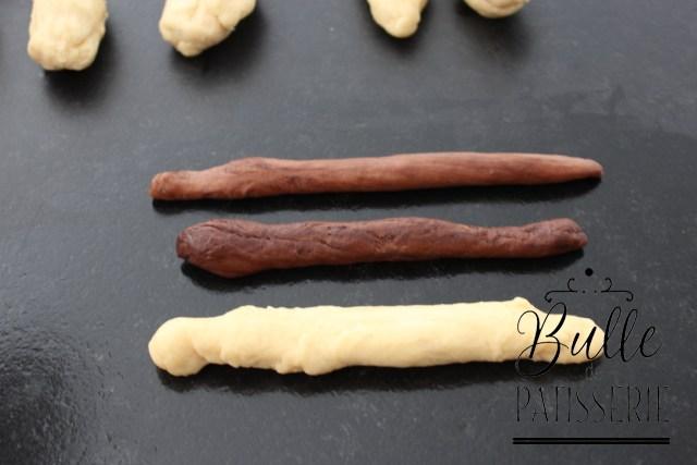 Brioche Girafe : façonnez des boudins avec chaque portion de pâte