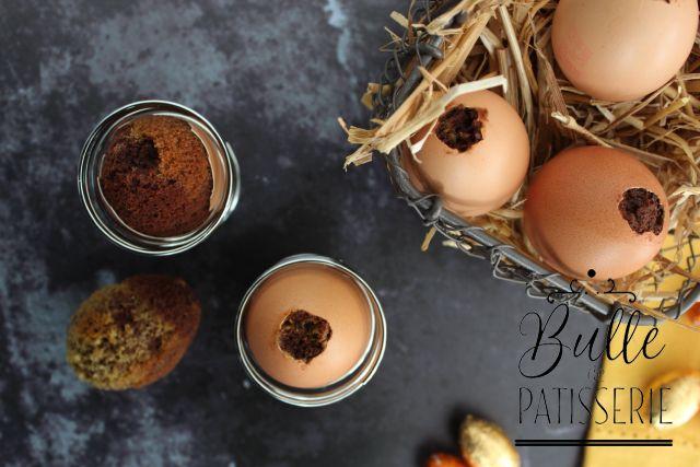 Oeuf surprise de Pâques : Cake marbré en coquille d'œuf
