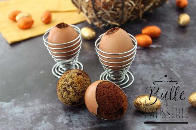 Dessert de Pâques facile : marbré caché en coquille d'œuf