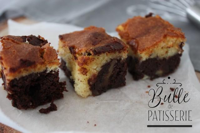 Recette facile : brownie chocolat noir et chocolat blanc