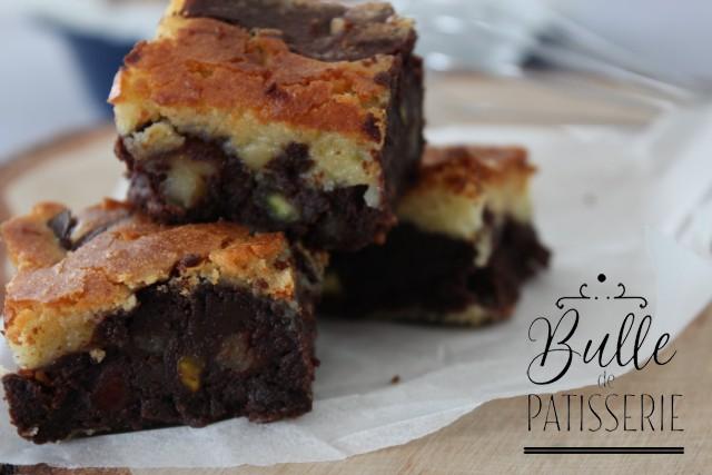 Pâtisserie express : brownie marbré aux 2 chocolats
