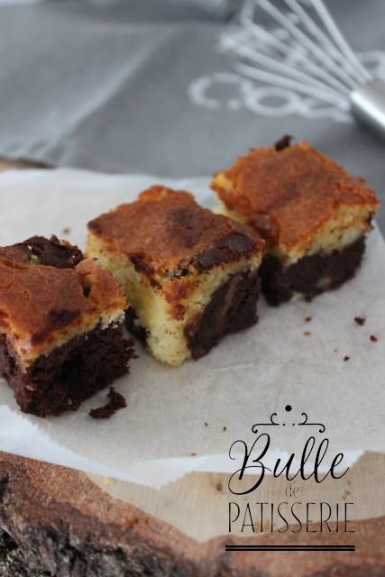 Brownie marbré maison aux deux chocolats