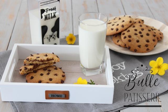 Pâtisserie facile : cookies cœur coulant au Nutella